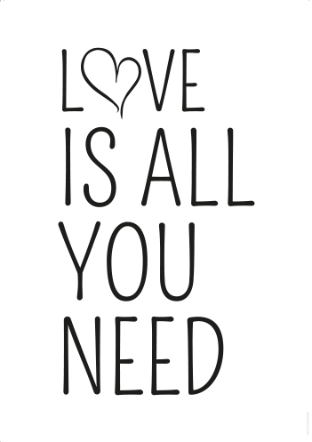 tekst poster – love is all you need - textposters
