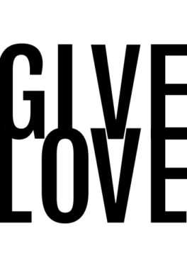 Tekstposter – Give love